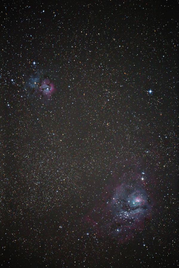 M8 M20 - астрофотография