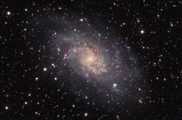 M 33, съемка на два сетапа - астрофотография