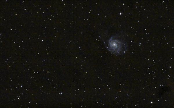 Галактика Вертушка M101. 03-04.04.2021 - астрофотография