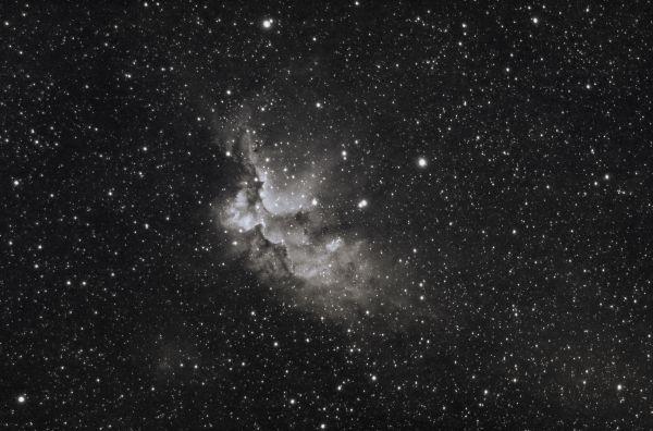 Колдун (H-alpha) - астрофотография