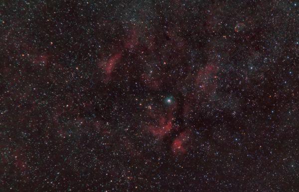 Туманности в Лебеде - астрофотография