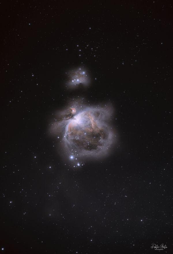 M42 Great orion nebula & running man nebula - астрофотография