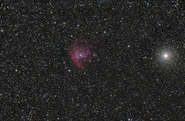 NGC 457 Туманность Пакман - астрофотография
