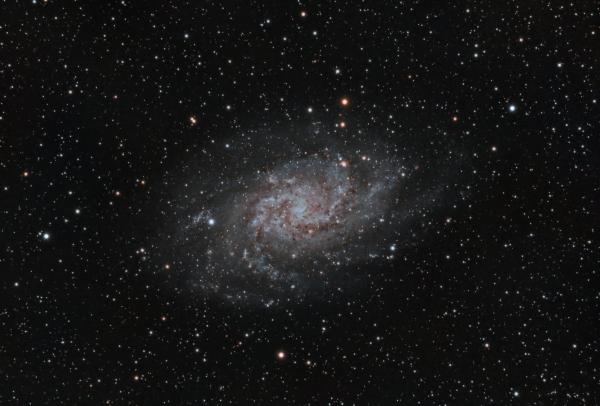 Галактика Треугольника (М33) - астрофотография