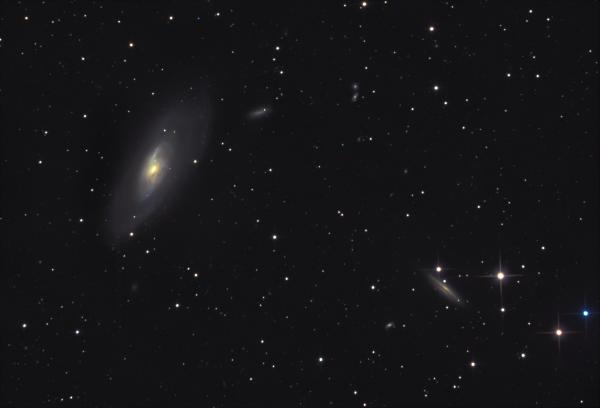 M106 & NGC 4217 - астрофотография
