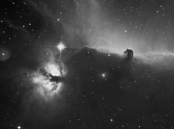 Тестовая съемка с узкополосными фильтрами Optolong по туманности Пламя, Конская Голова и звезде Альнитак. - астрофотография