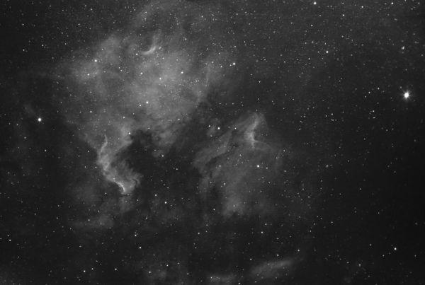 NGC 7000 and IC 5070 - астрофотография