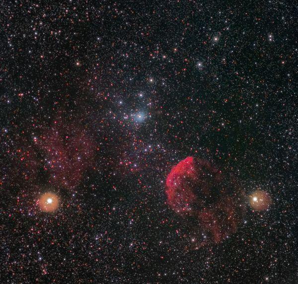 """IC 443 и 444 """"Медуза"""" - астрофотография"""
