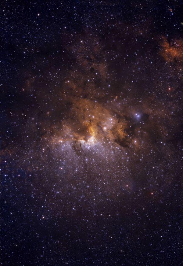Туманность Пещера C9 - астрофотография