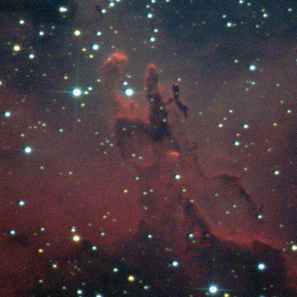 M16 участок. Столпы Творения - астрофотография