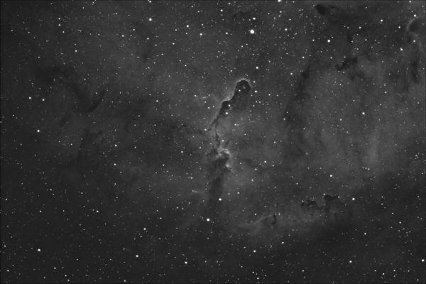 IC1396 - The Elephants Trunk Nebula in H-alpha - астрофотография