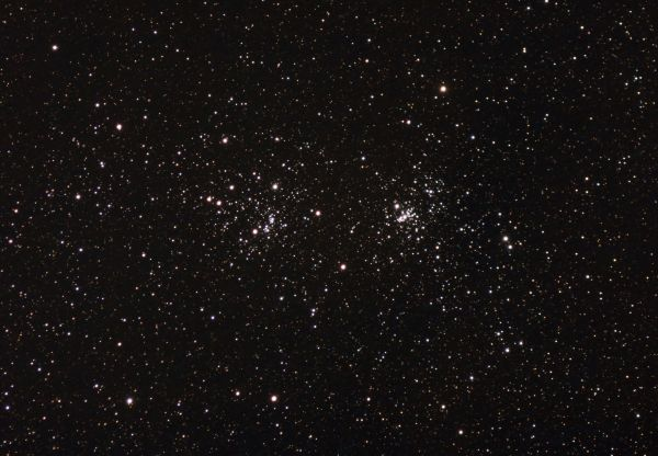 Double cluster in Perseus - астрофотография