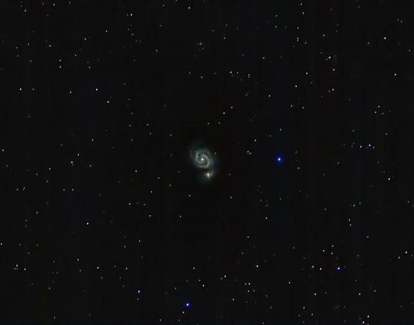 Галактика Водоворот в Гончих псах - астрофотография