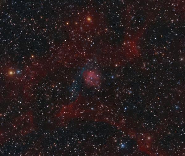 Planetary nebula AMU 1 (PN G075.9+11.6) - астрофотография