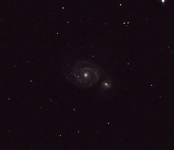 M51 and NGC 5195 Galaxies - астрофотография