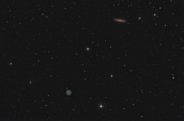 """M 97 (""""Туманность Сова"""") и M 108  - астрофотография"""