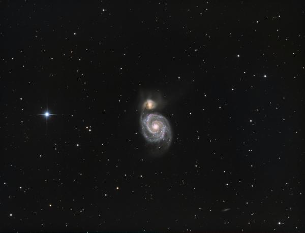 M51 Whirpool Galaxy HaLRGB - астрофотография