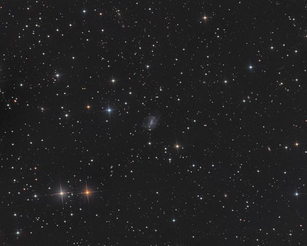 Взаимодействующие галактики UGC 4499 + Markaryan 94 - астрофотография