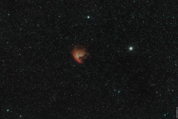 NGC 281 Pac-Man nebula. December 2, 2019 - астрофотография