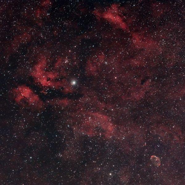 Садр и Полумесяц - астрофотография