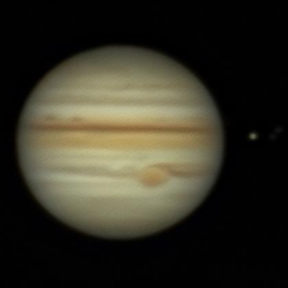Юпитер в августе - астрофотография