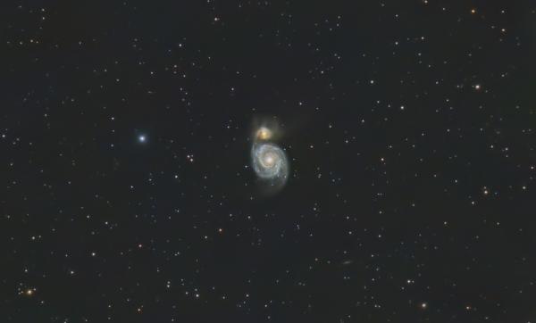 "Галактика М51 ""Водоворот""  (Whirlpool Galaxy M51) - астрофотография"