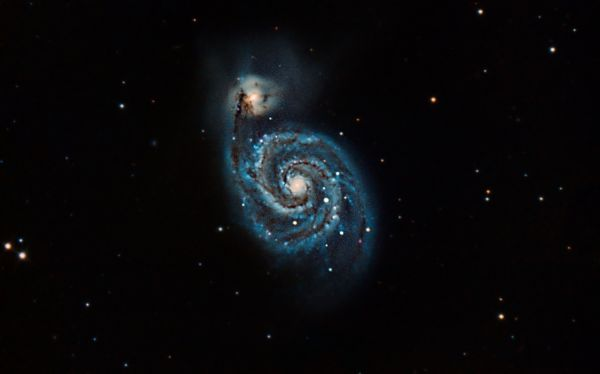M51 - Whirpoolgalaxy - астрофотография