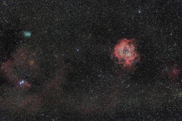 """Туманность NGC 2237 """"Розетка"""" - астрофотография"""