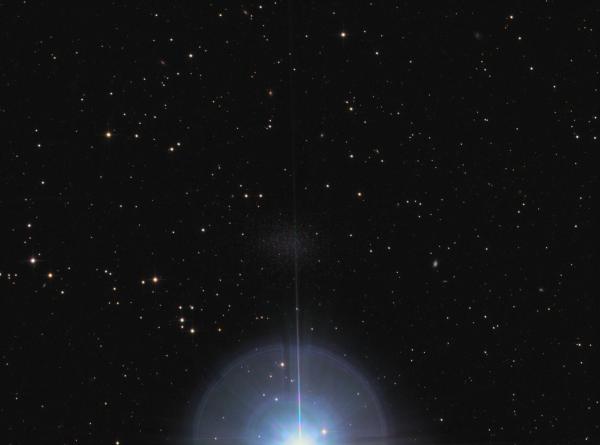 Leo-1 dwarf galaxy near Regulus LRGB - астрофотография