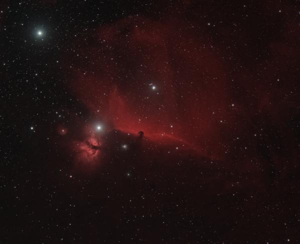 NGC 2024 (FLAME NEBULA), IC 434, BARNARD 33 (HORSEHEAD NEBULA), NGC 2023 - астрофотография