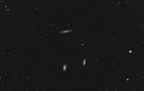 Триплет Льва (NGC 3628, M66, M65) 11-04-2020 - астрофотография